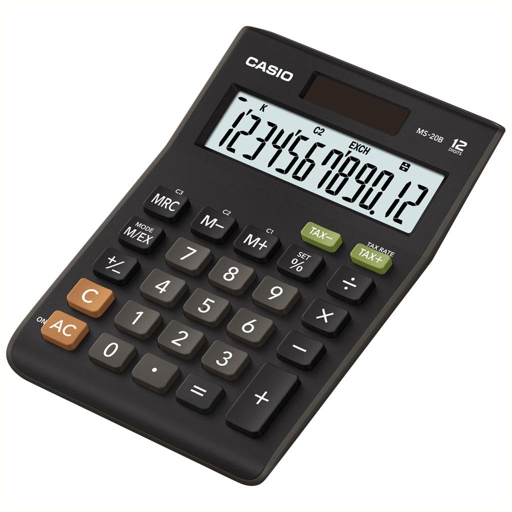 Kalkulačka Casio MS 20S / MS 20 B S stolová, 12m.