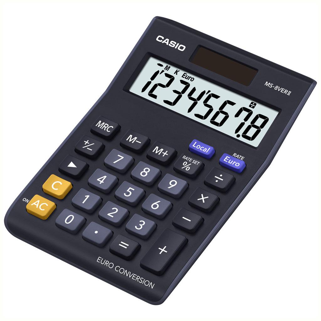 Kalkulačka Casio MS 8 VER/MS 8 VER III €, stolová, 8m