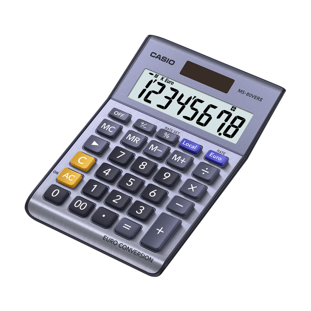 Kalkulačka Casio MS 80 VER - € /VER II stolová, 8m. /€