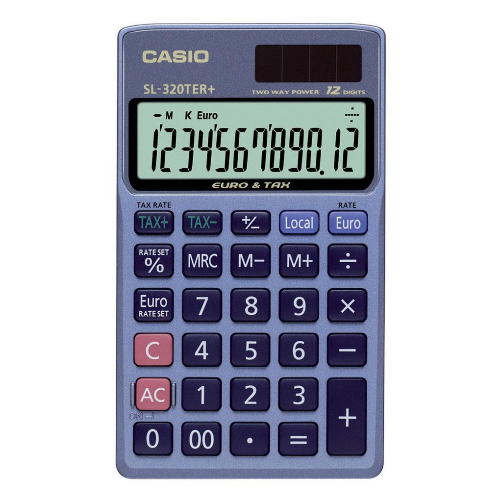Kalkulačka Casio SL 320 TER+ / vrecková, 12m./€