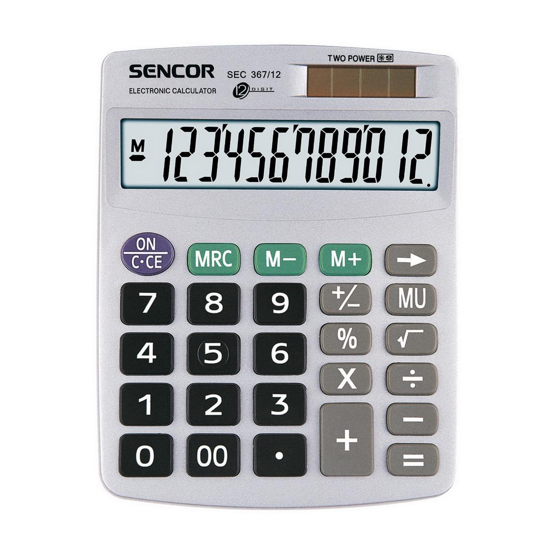 Kalkulačka Sencor SEC 367-12/stolová, 12m