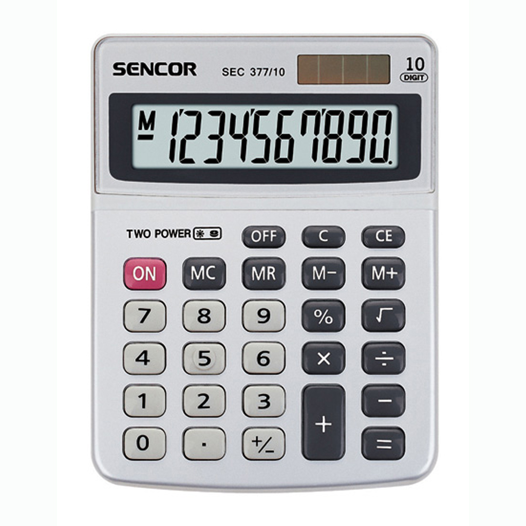 Kalkulačka Sencor SEC 377 / stolová 10m.