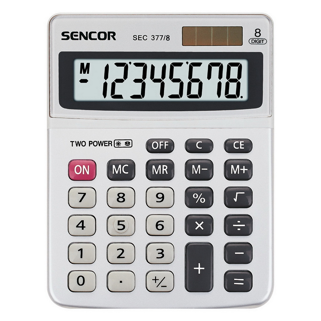 Kalkulačka Sencor SEC 377/stolová, 8m