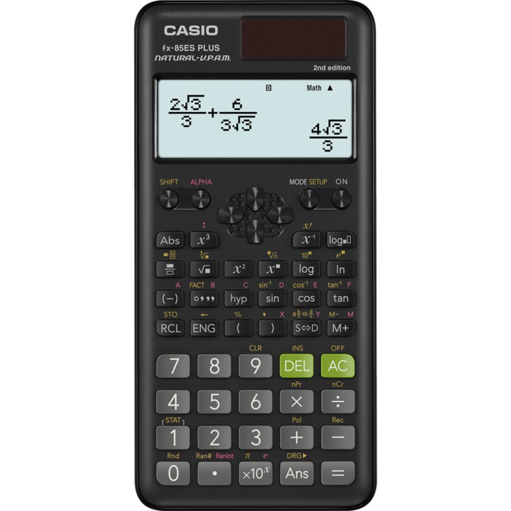Kalkulačka Casio FX 85 ES Plus 2E s mat. funk., 10+2m.