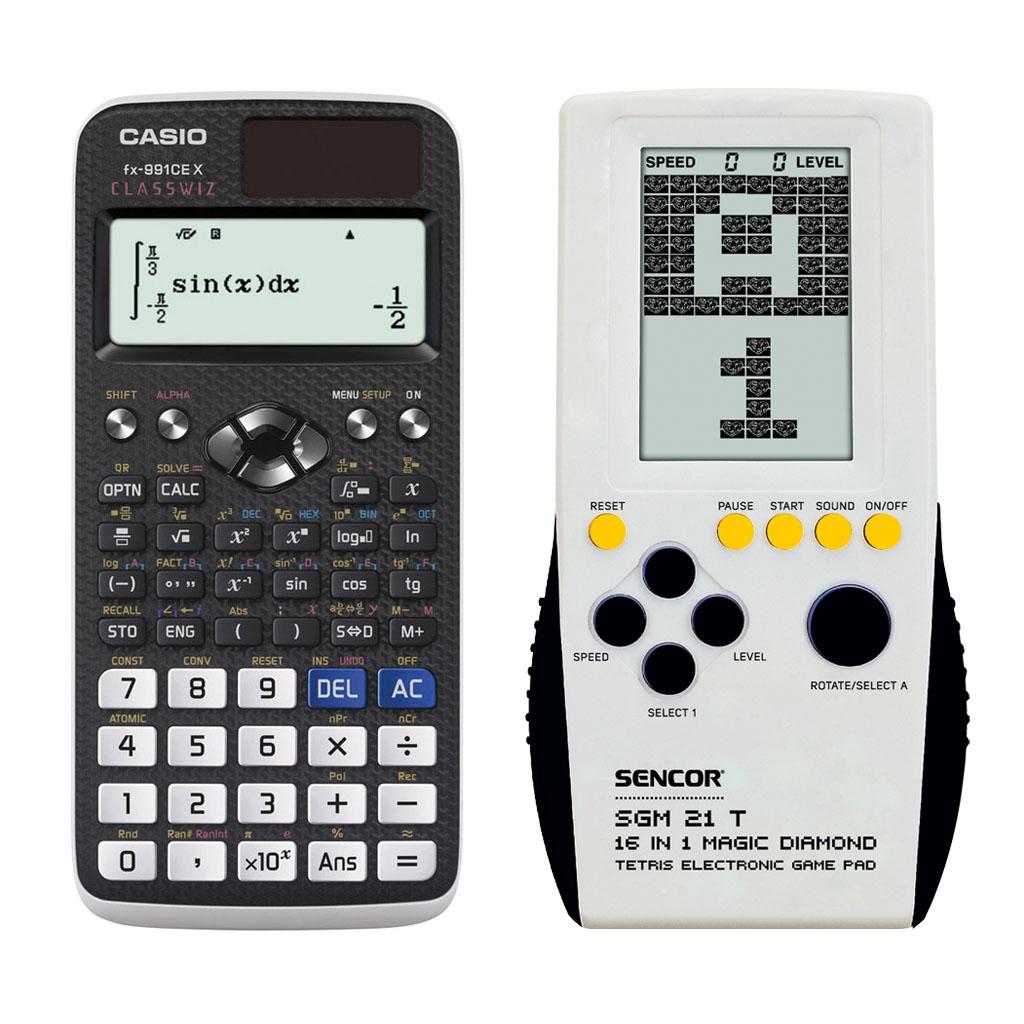 Kalkulačka Casio FX 991 CE X s mat. funk. + hra TETRIS SGM 21 T
