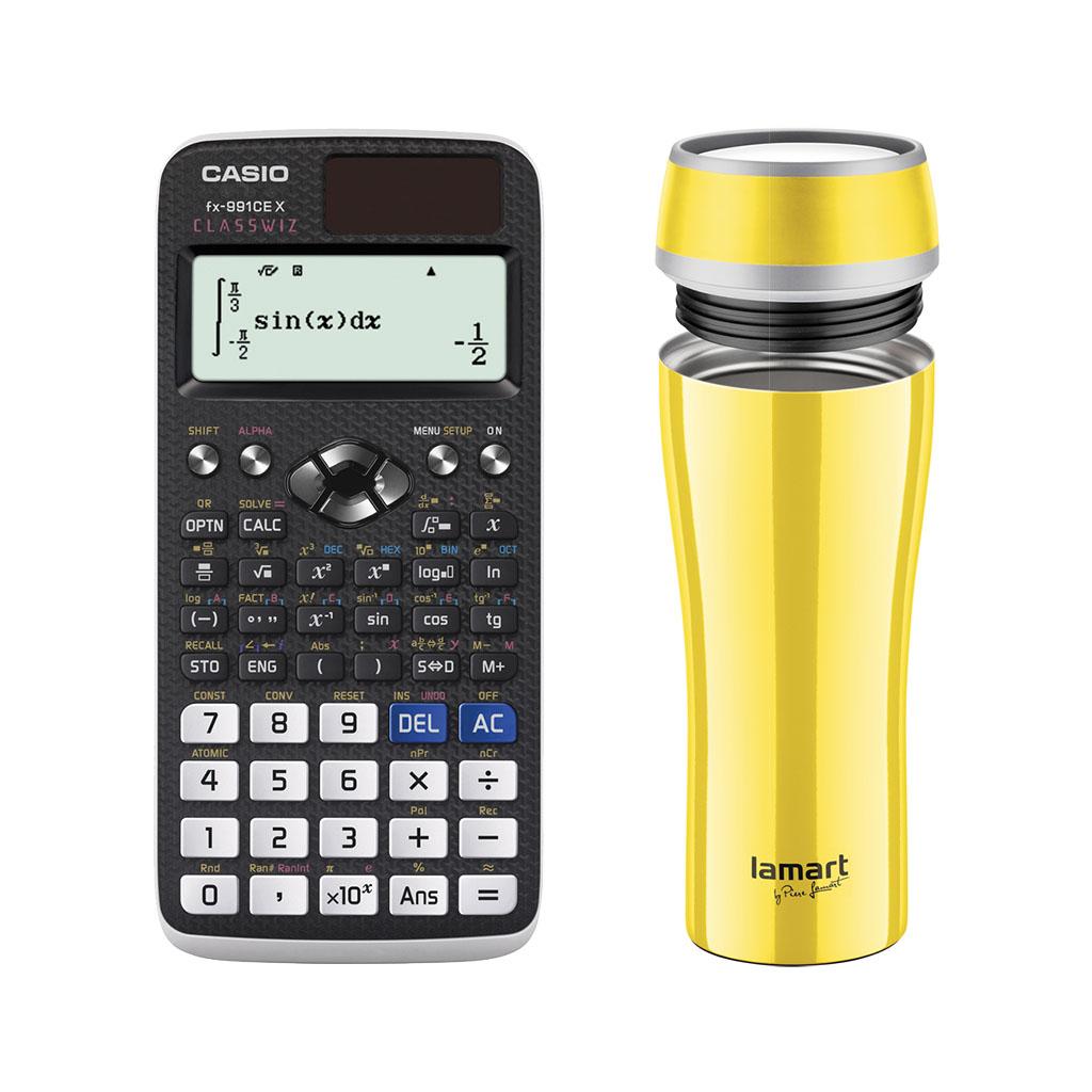 Kalkulačka Casio FX 991 CE X s mat. funk. + termohrnček Lamart, 0,4L