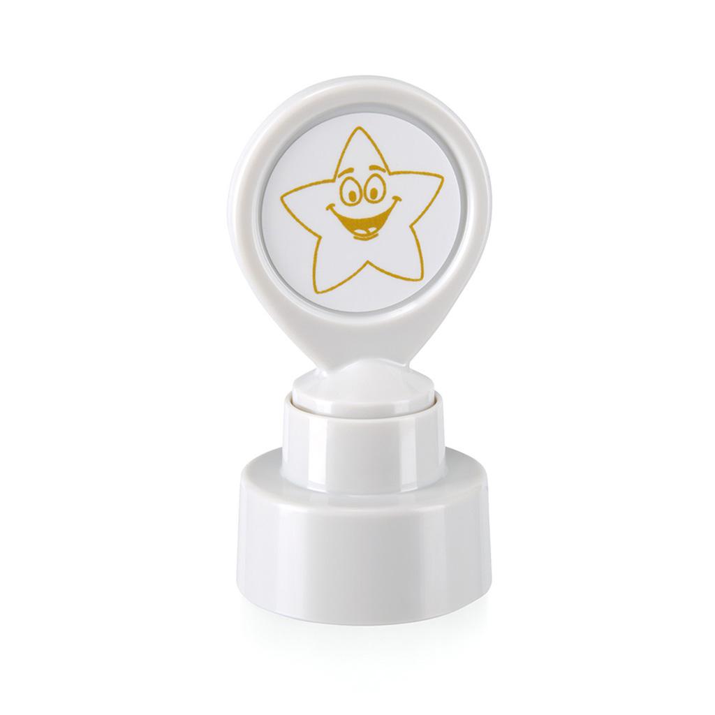 Motivačná pečiatka Zlatá hviezda - zlatý odtlačok