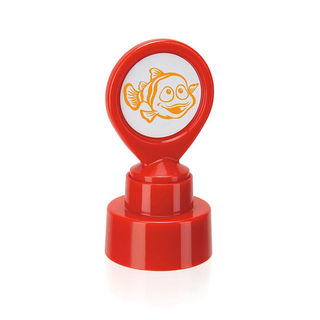 Motivačná pečiatka Rybka - oranžový odtlačok