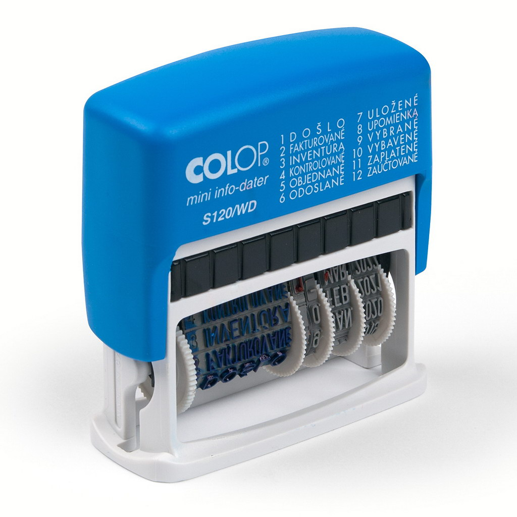 Dátumovka Colop s voliteľným textom - S 120/WD 35