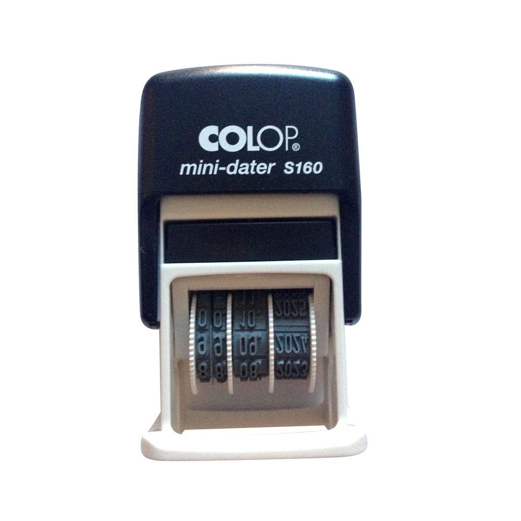 Dátumovka Colop Mini dater S160 03 - čierna poduška