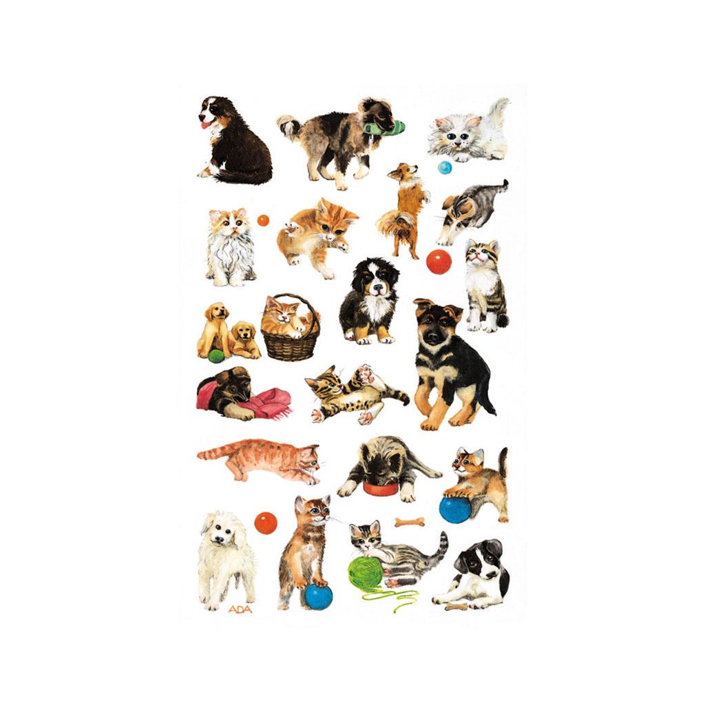 Etikety detské, psy a mačky 53487 / 3hár v bal