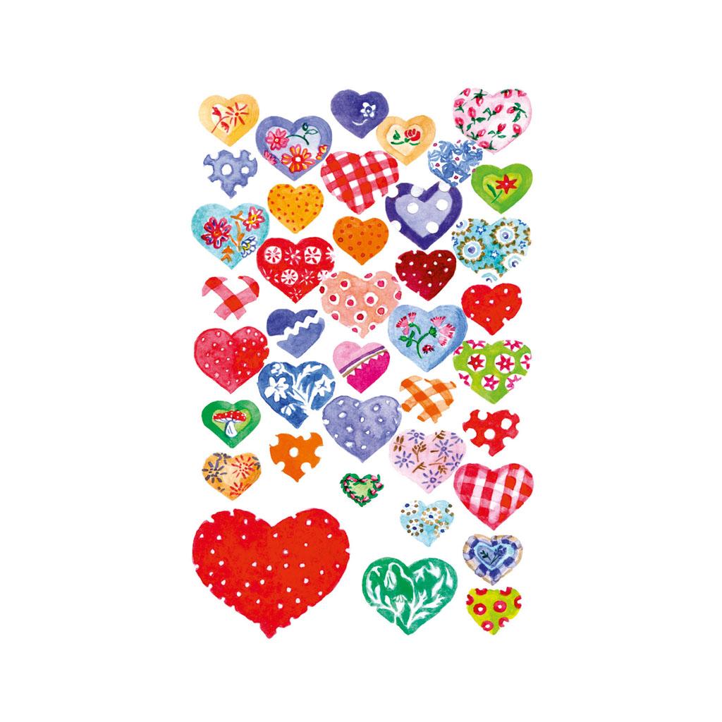 Etikety srdcia trblietavé 55811 / 2hár v bal