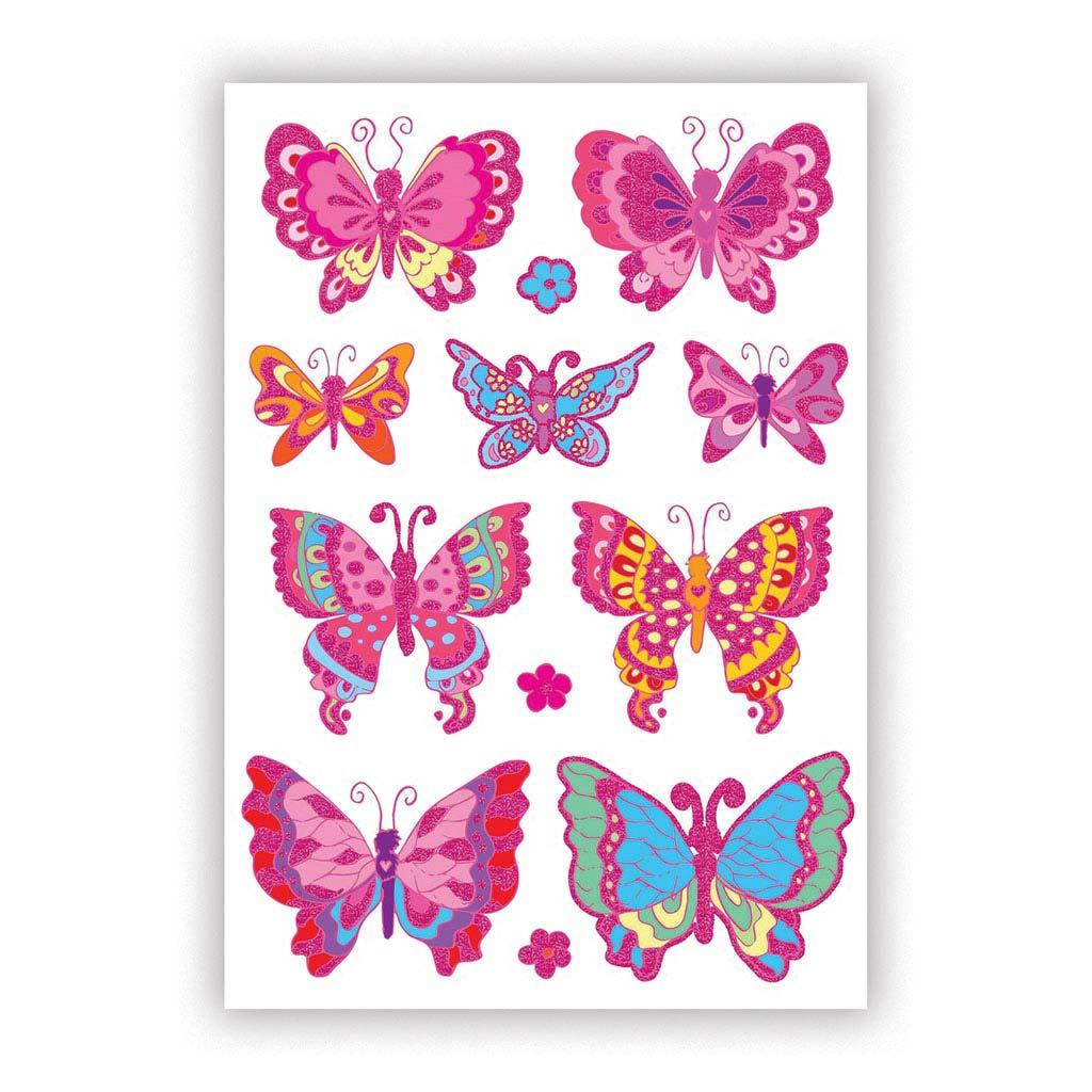 Etikety detské, motýliky 53250 - A5 (150x215 mm) / 1 hár v bal