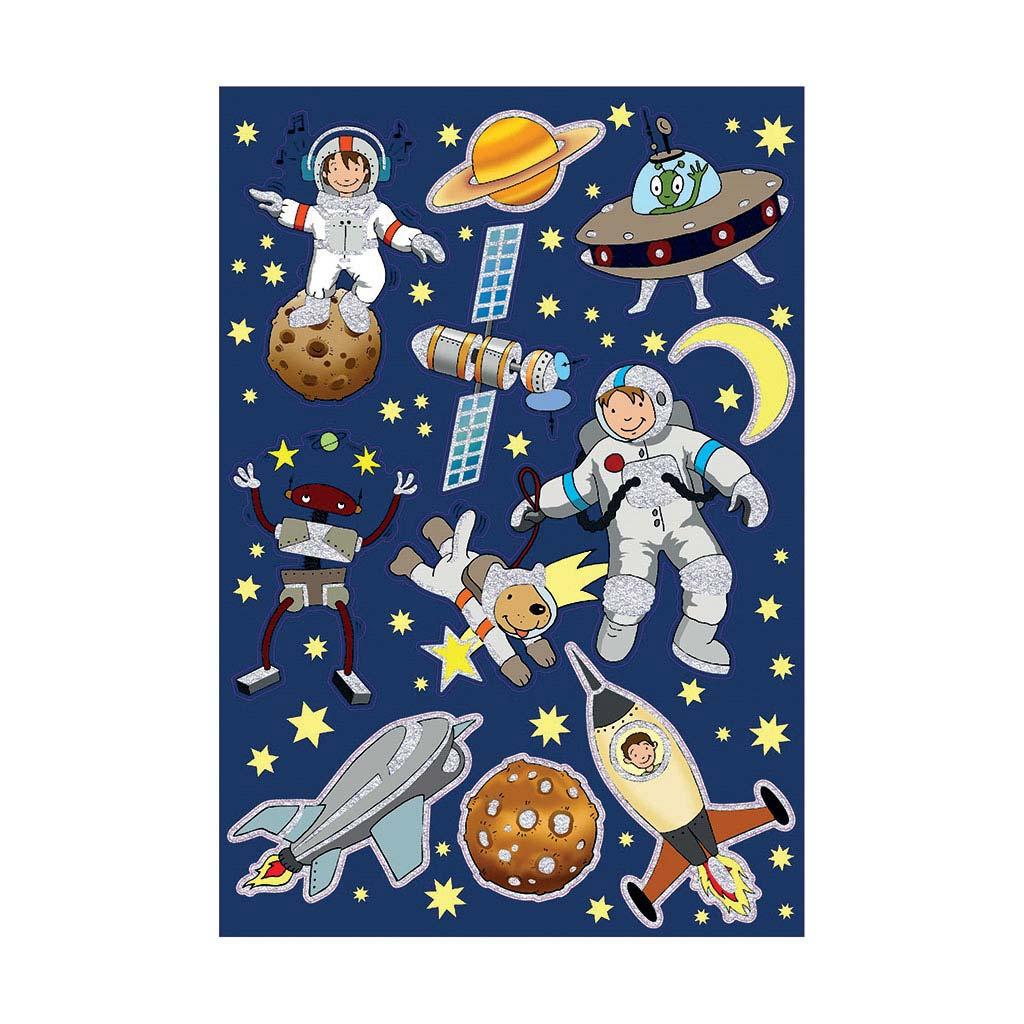 Etikety detské, vesmír 53251 - A5 (150x215 mm) / 1 hár v bal