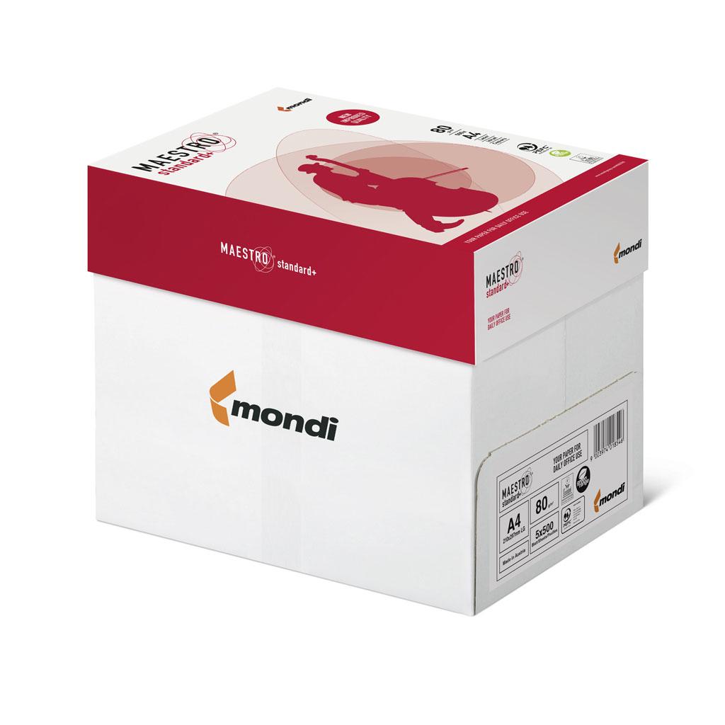 Papier kopírovací MAESTRO® Standard+, A4, 80 g, kartón (5 balíkov)
