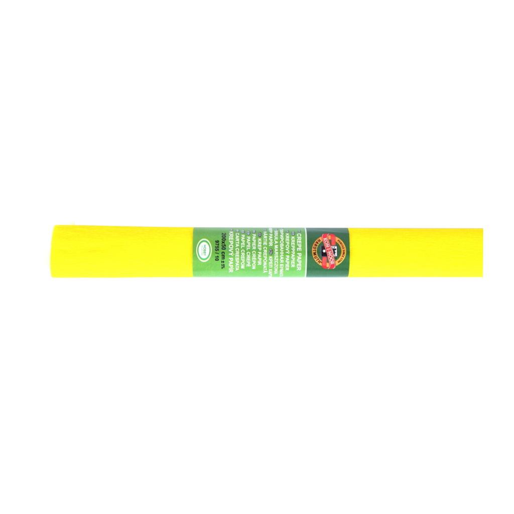 Papier krepový žltý 0,5 x 2 m