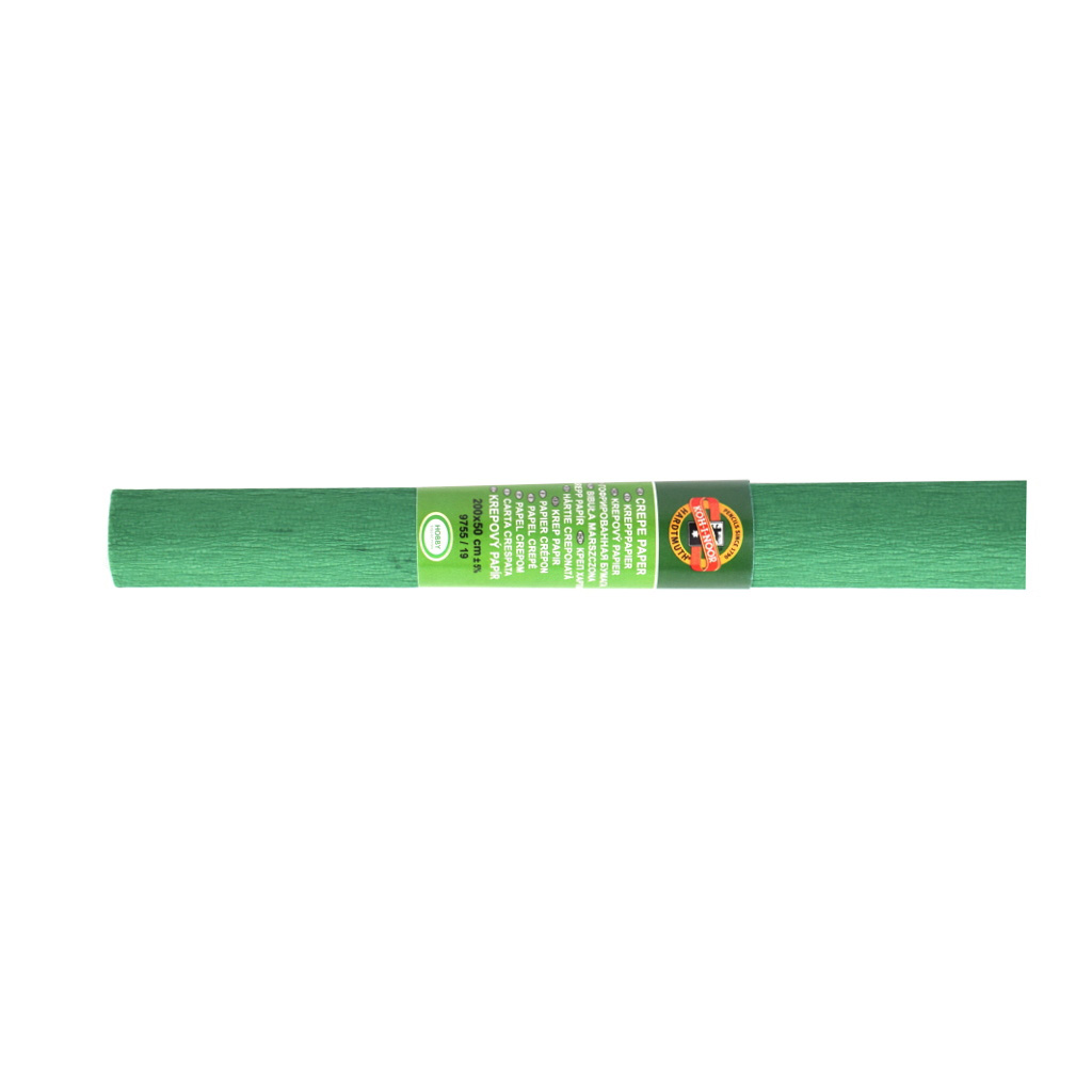 Papier krepový zelený 0,5 x 2 m