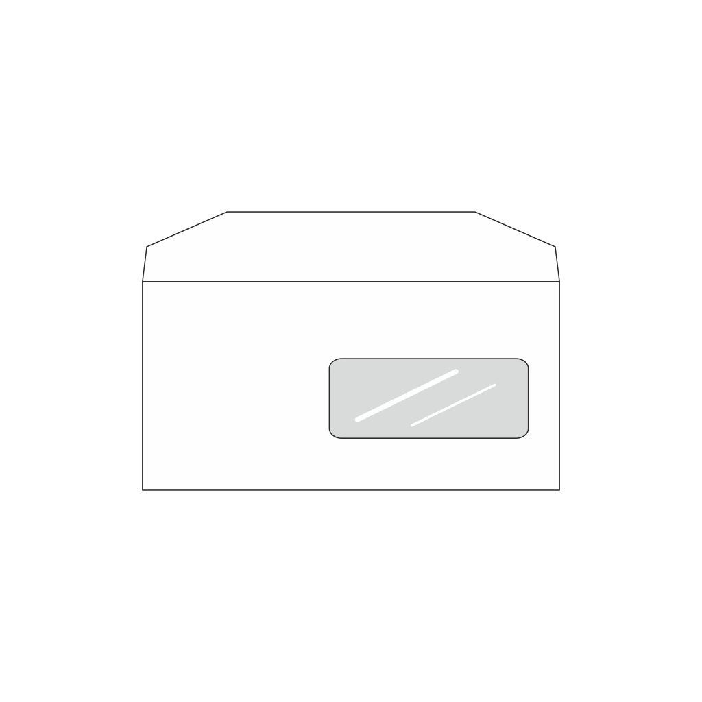 Obálky DL obyčajné s okienkom / 25 ks