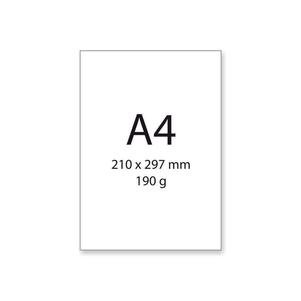 Výkres na kreslenie a rysovanie, A4, 190 g/200 ks