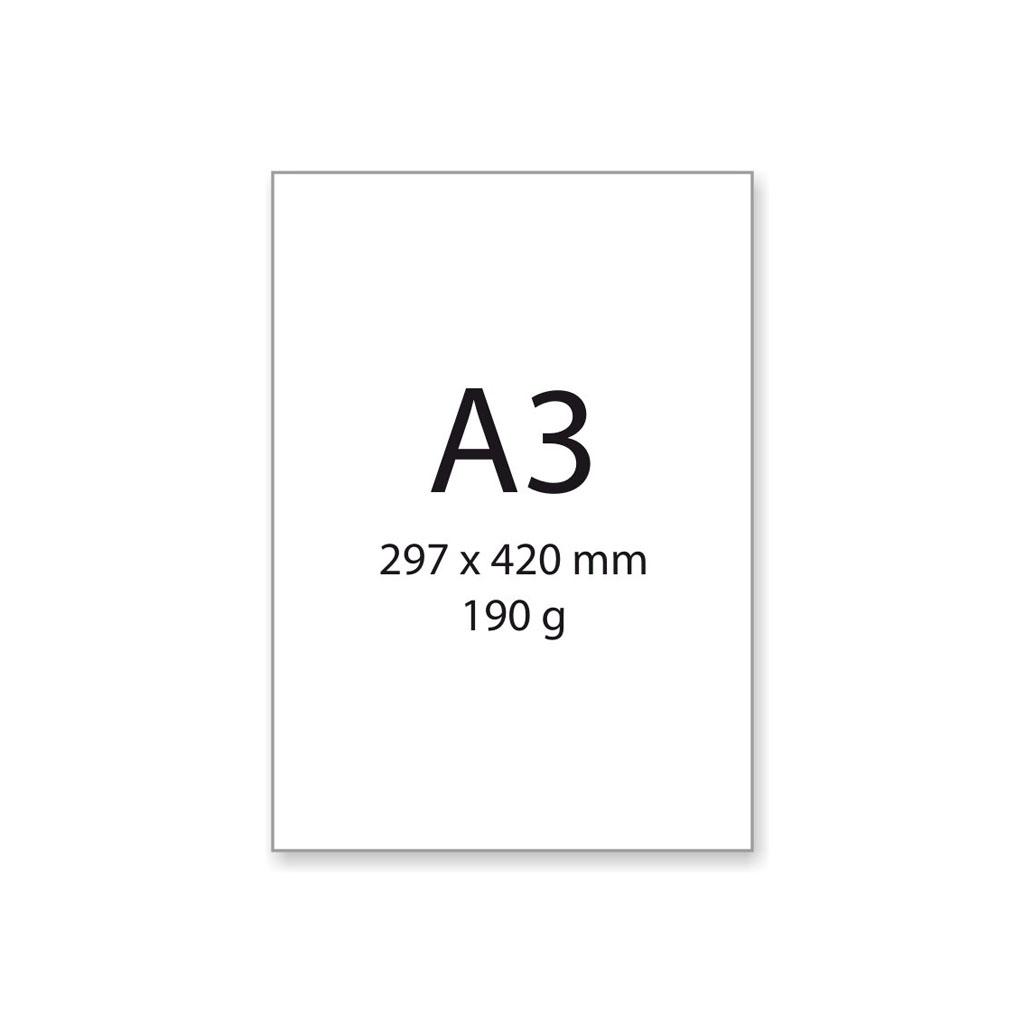 Výkres na kreslenie a rysovanie, A3, 190 g/200 ks