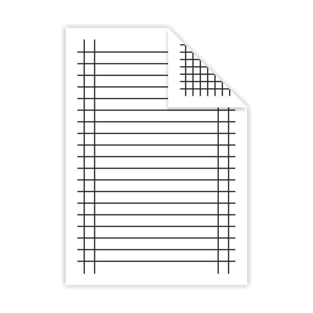 Podložka A5, linajky + štvorček - lamino