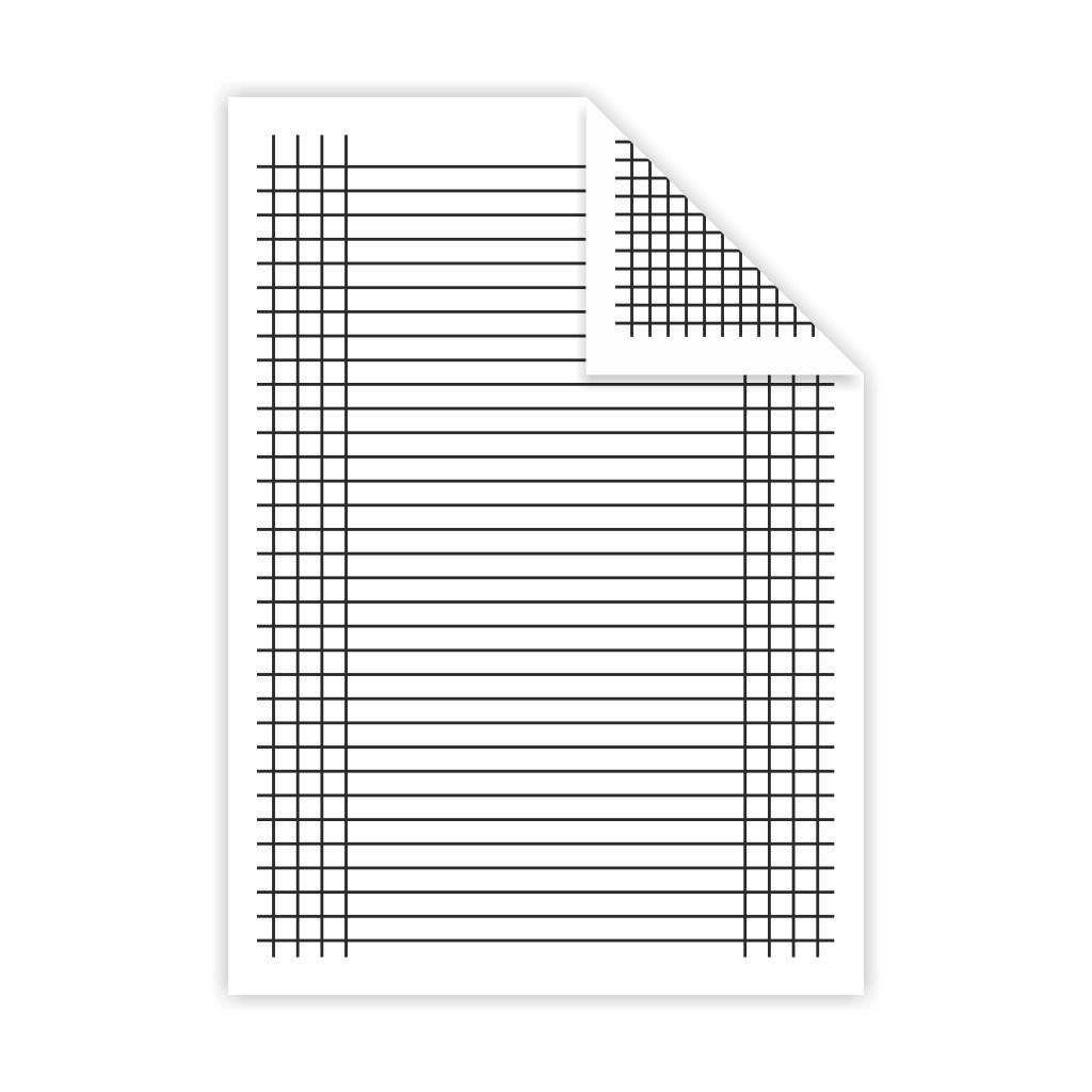 Podložka A4, linajky + štvorček - lamino