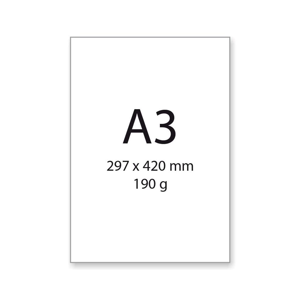 Výkres na kreslenie a rysovanie, A3, 190 g/20 ks