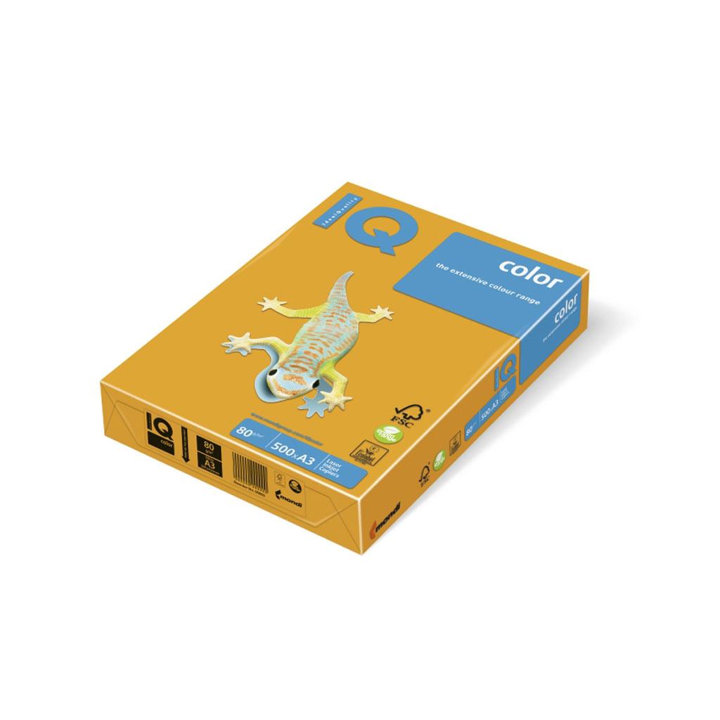 Papier kopírovací IQ Color, A3, 80g, 500 hárkov, trend. č.AG10 - starozlatá