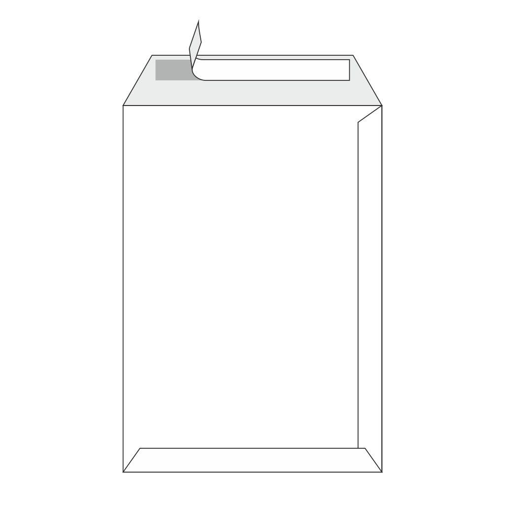 Tašky C4 s odtrhávacou páskou a potlačou biele / 10 ks