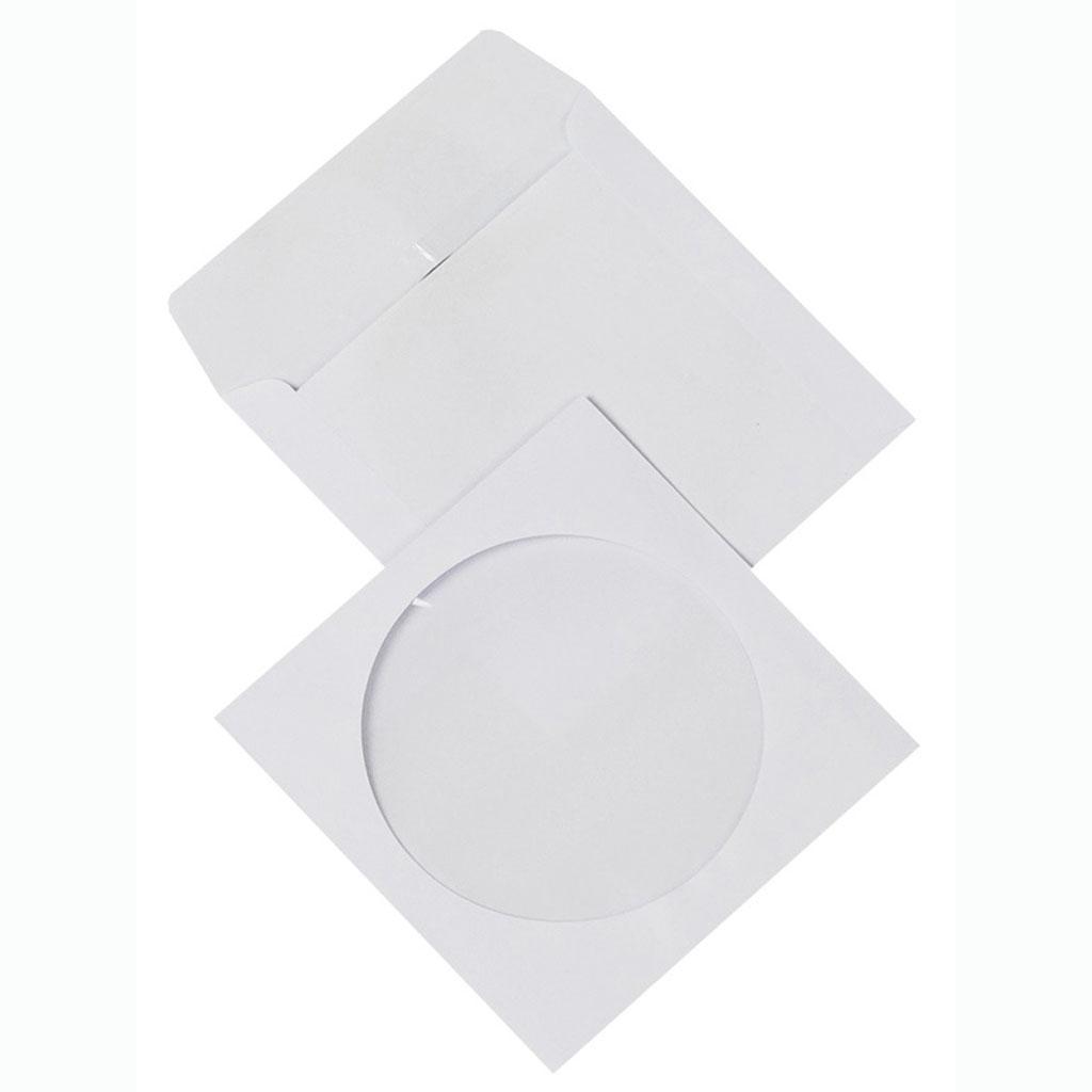 Obálky na CD samolepiace s okienkom / 1000 ks