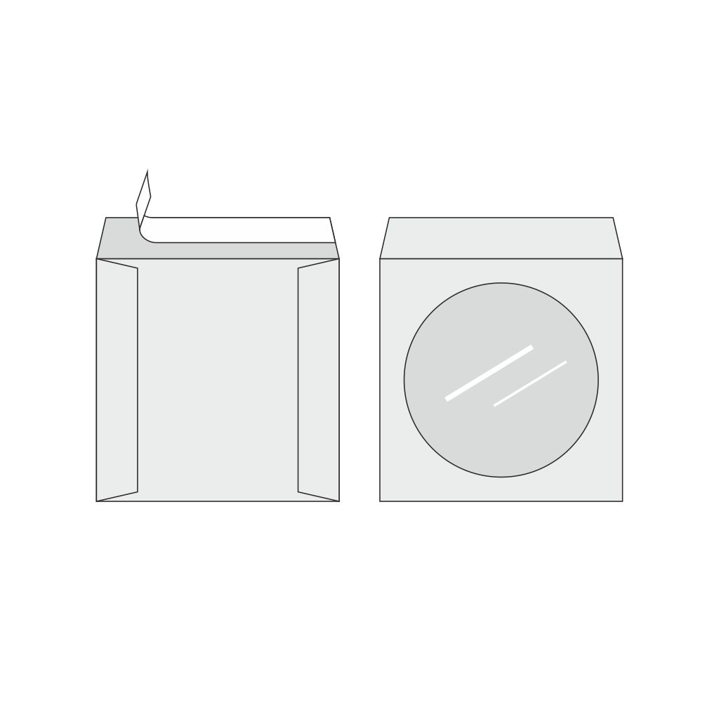 Obálky na CD samolepiace s okienkom / 100 ks