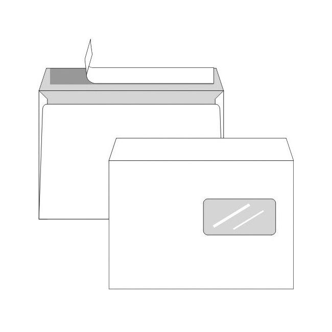 Obálky C5 s odtrh. páskou s okienkom a vnút. potlačou pre laser. tlačiarne / 10 ks