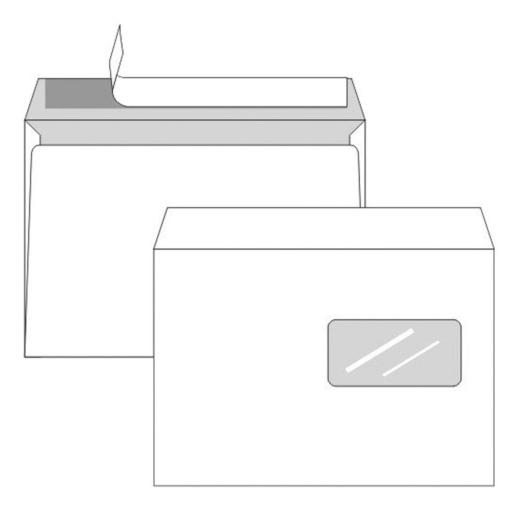 Obálky C5 s odtrh. páskou s okienkom a vnút. potlačou pre laser. tlačiarne / 50 ks