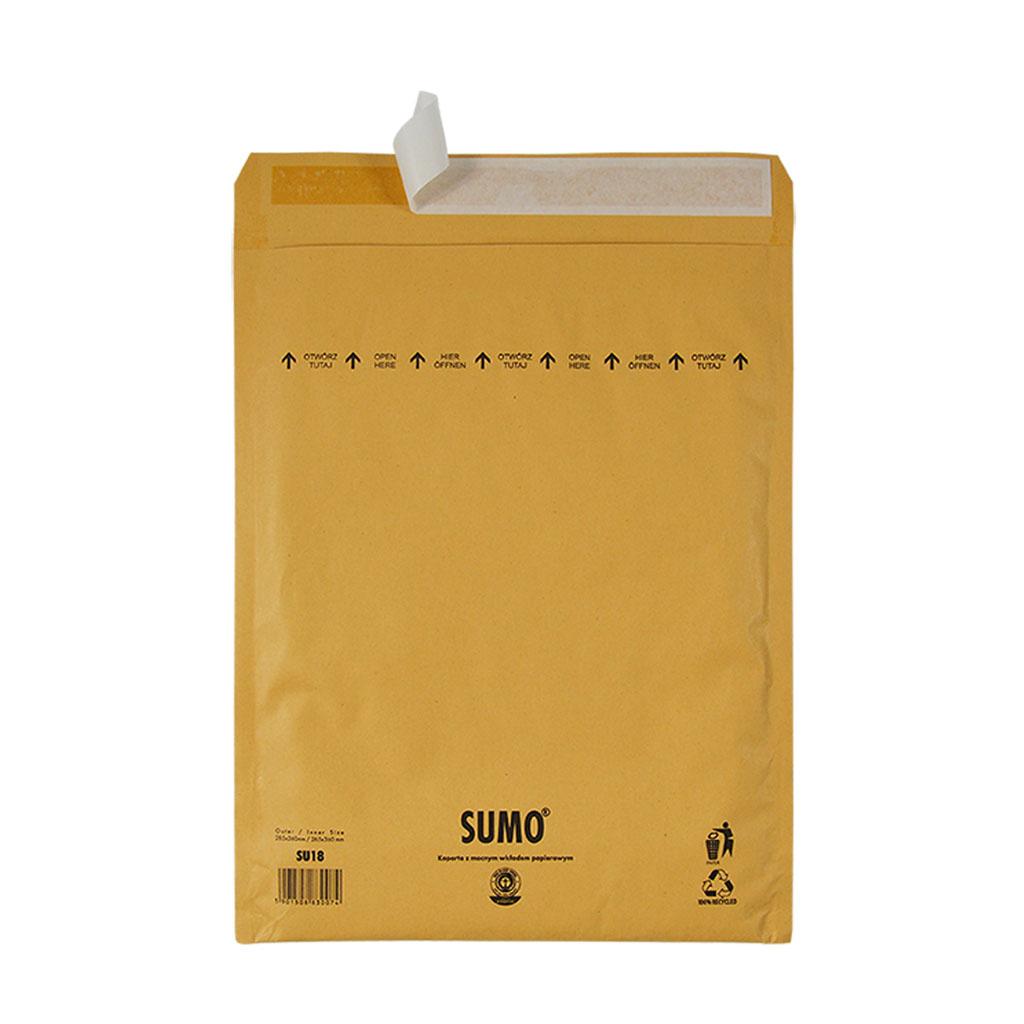 "Taška ""SUMO"" papierová výstuž, s odtrh. páskou /265x360/, 285x360 mm hnedá"