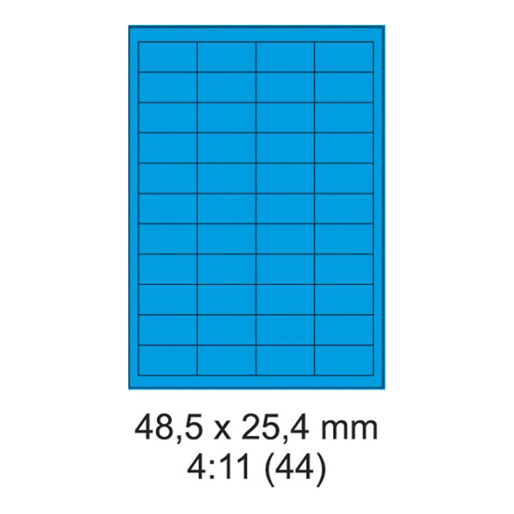 Etikety PRINT modré - 48,5 x 25,4 mm - (100 hár)