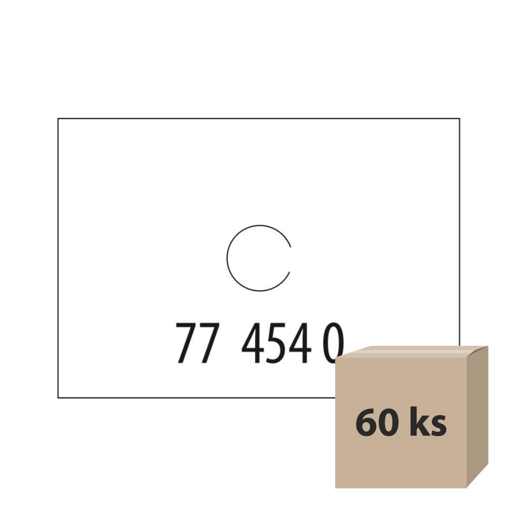 Etikety do et. klieští biele - Motex 16 x 23 mm, 60 kot