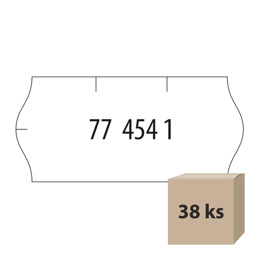 Etikety do et. klieští biele - Contact 26 x 12 mm, 38 kot