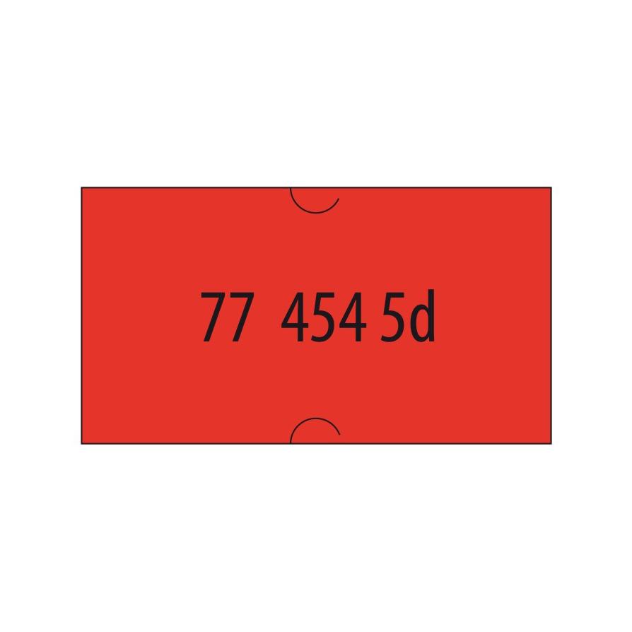 Etikety do et. klieští signálne - Cola-ply 22 x 12 mm - červené