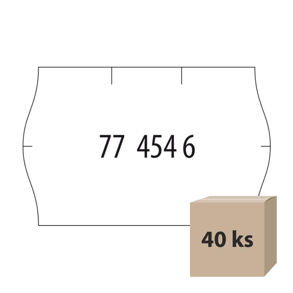 Etikety do et. klieští biele - Meto 14 Contact 25x16 mm, 40 kot