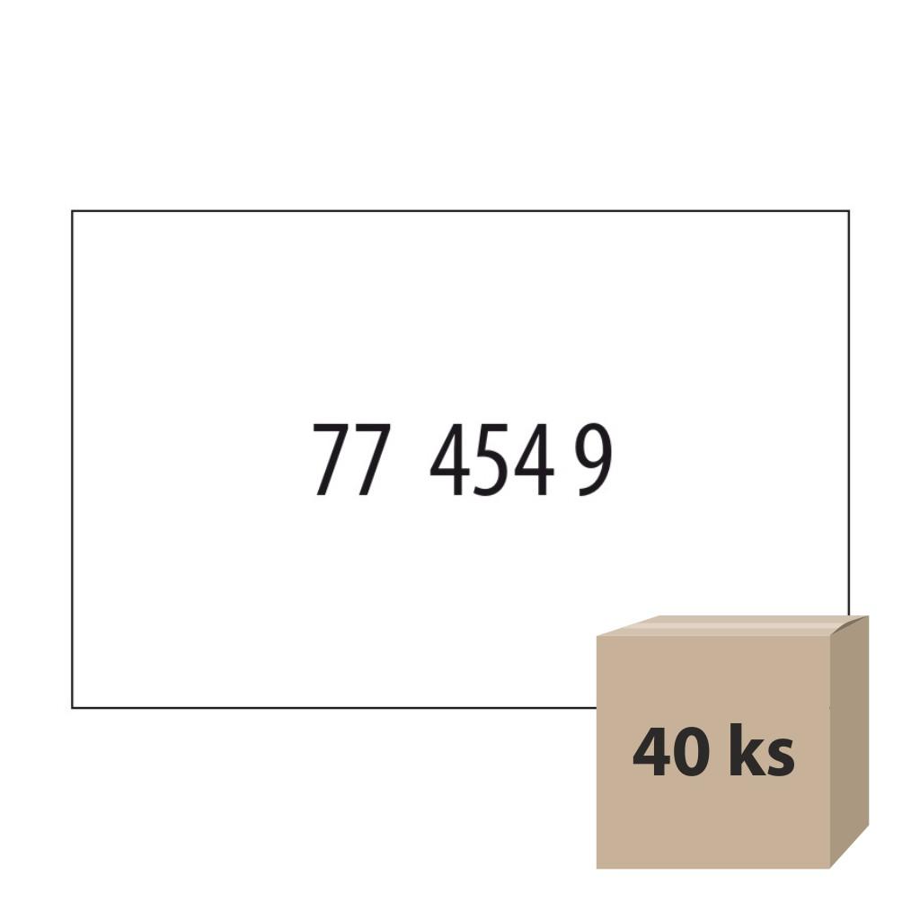 Etikety do et. klieští biele - CONTACT obdĺž. 25 x 16 mm, 40 kot