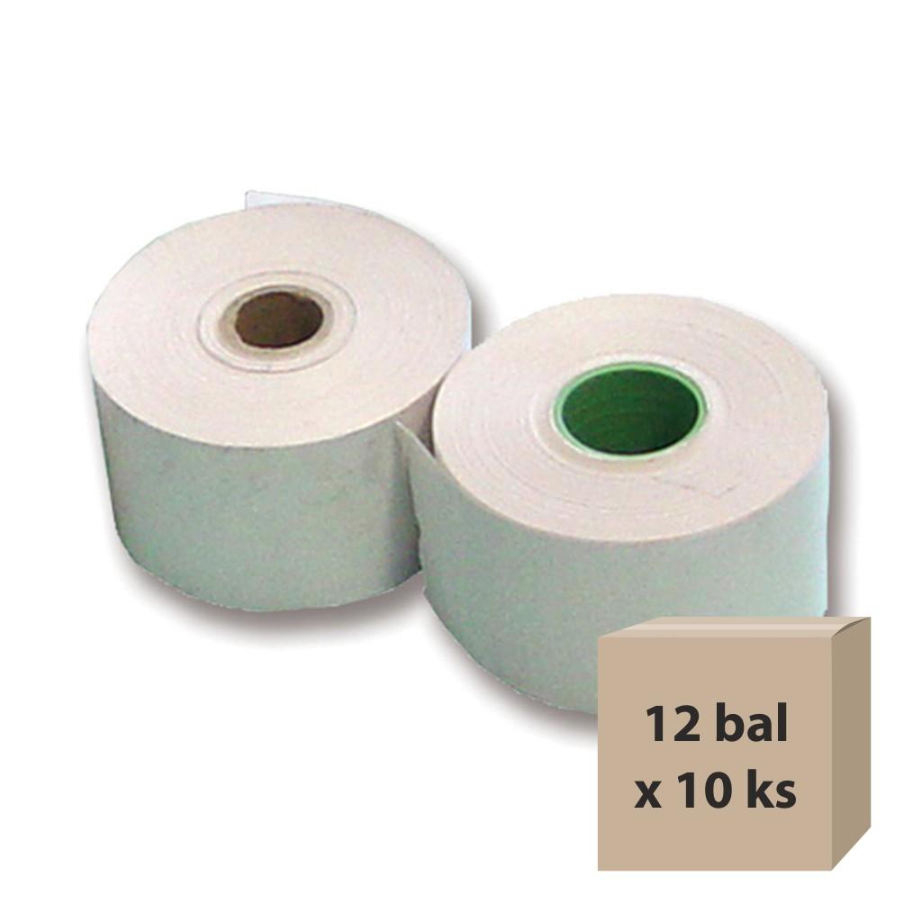 Pásky papierové do pokladní 57/50/12 termo, 12 bal x 10 ks