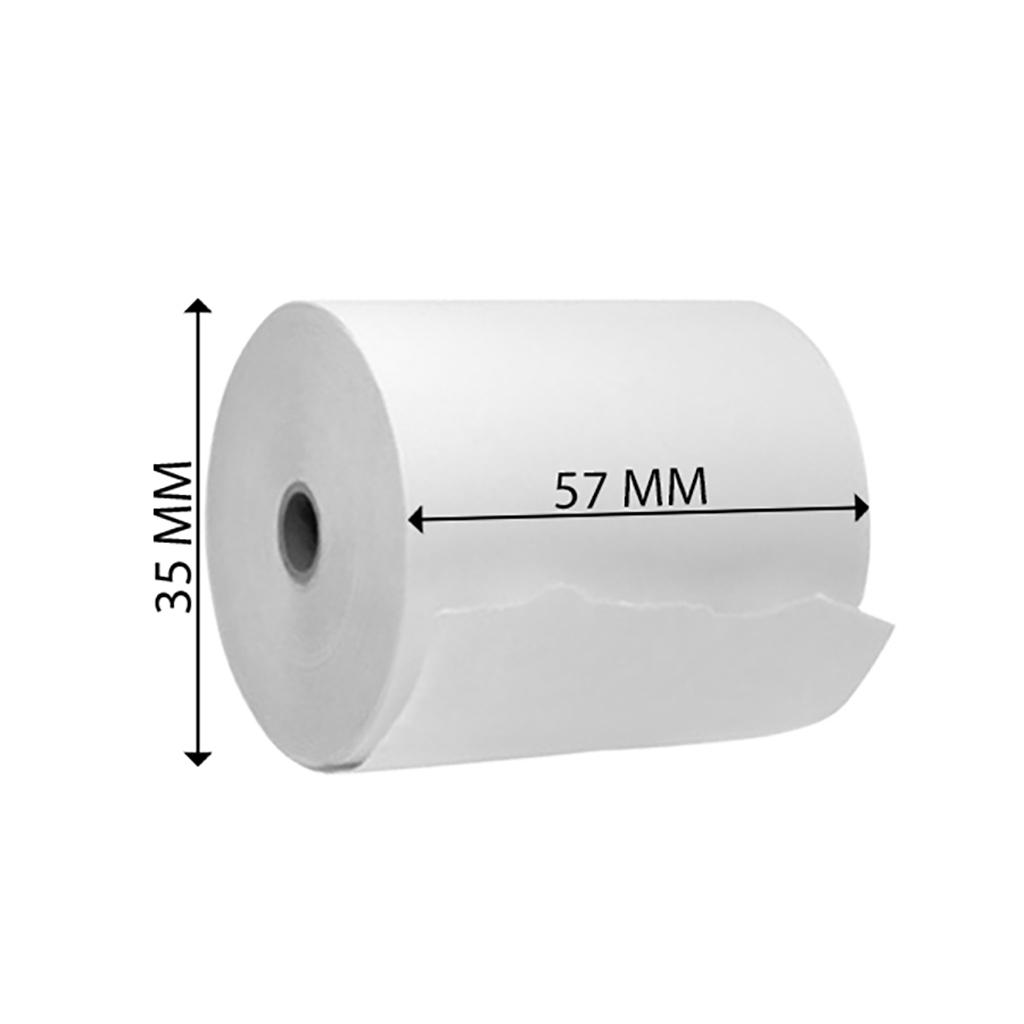 Pásky papierové do pokladní 57/35/12 termo, 12 bal x 10 ks