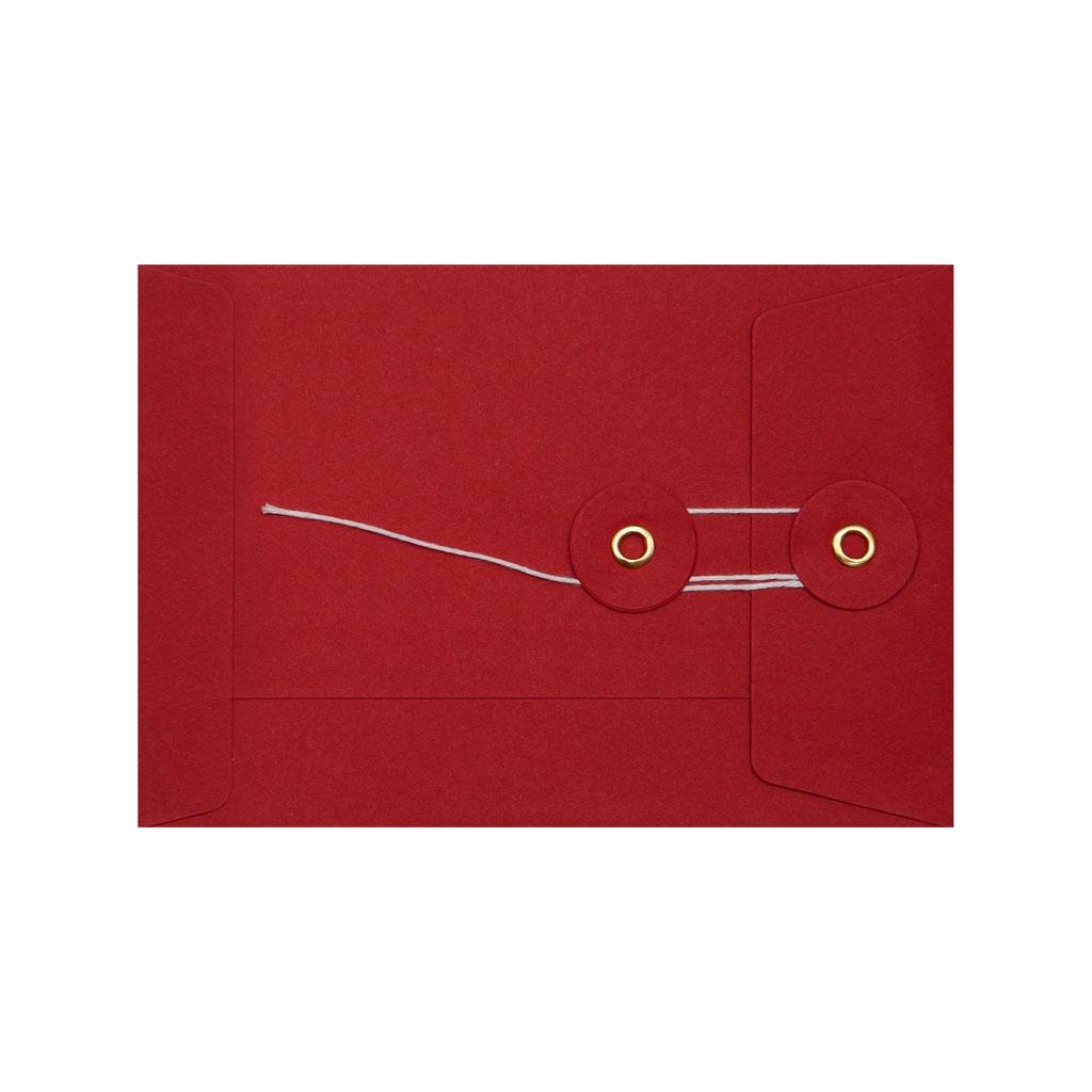 Obálky darčekové C6 String s X dnom červené / 3 ks
