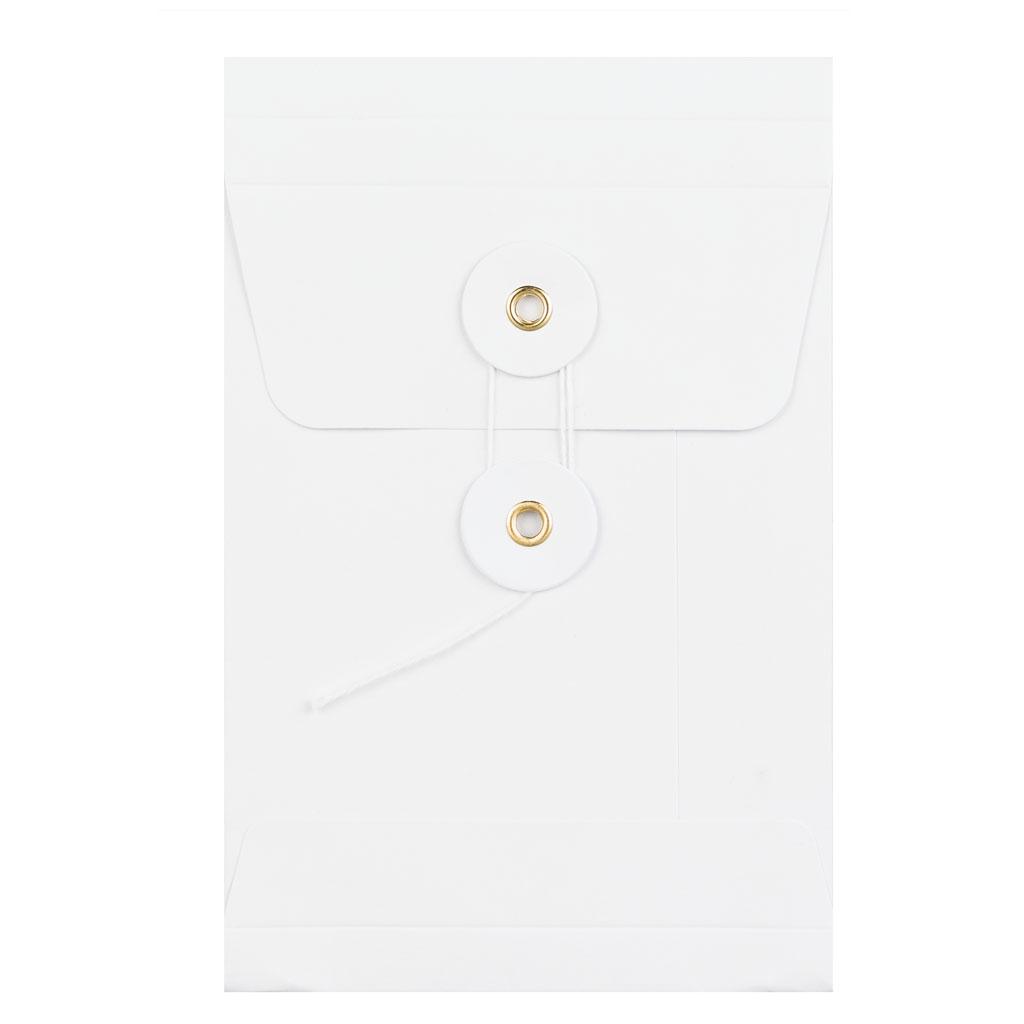 Obálky darčekové C6 String s X dnom biele / 3 ks
