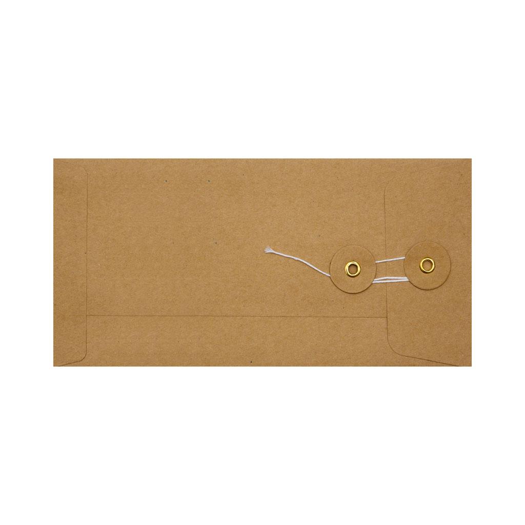Obálky darčekové DL String s X dnom hnedé / 3 ks
