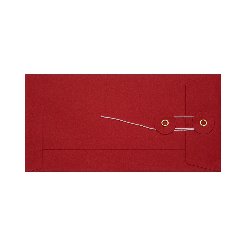 Obálky darčekové DL String s X dnom červené / 3 ks
