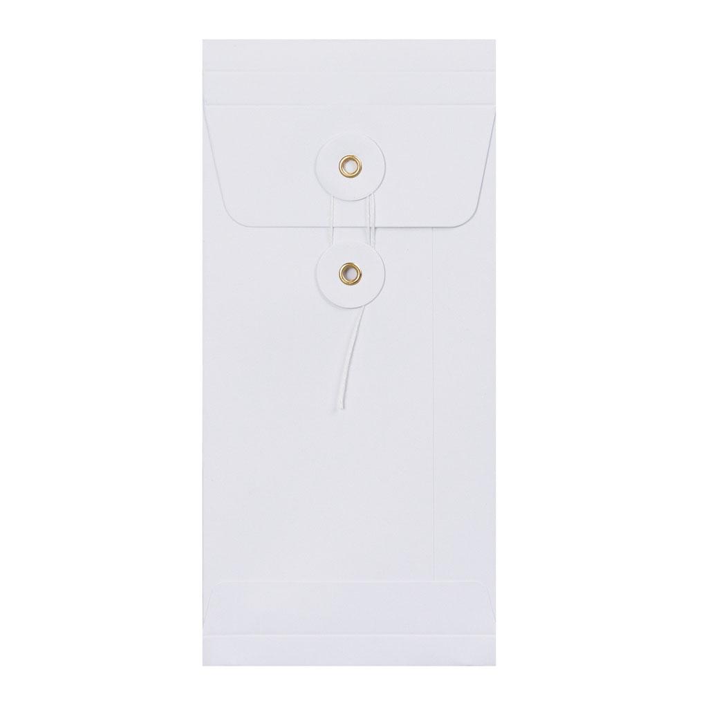 Obálky darčekové DL String s X dnom biele / 3 ks