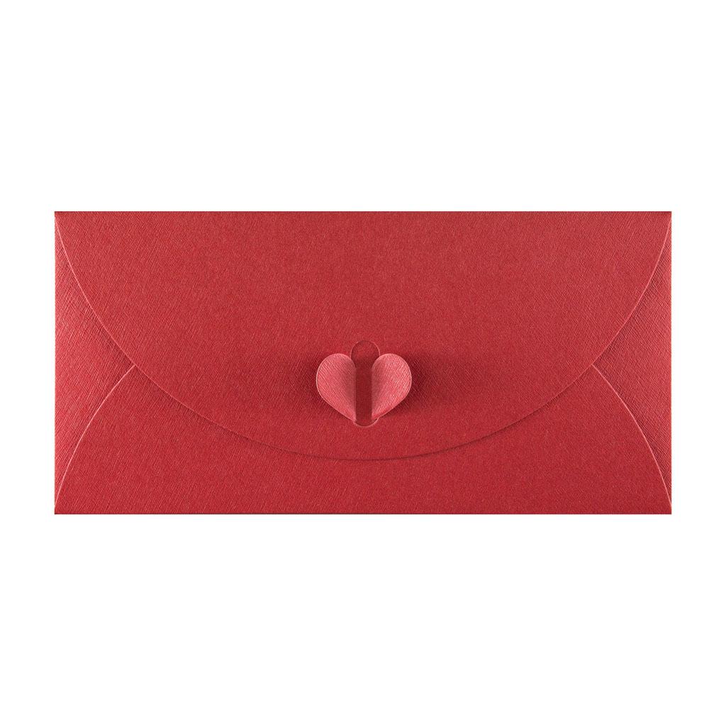 Obálky DL motýlikové otváranie / 5 ks  - červená perleťová