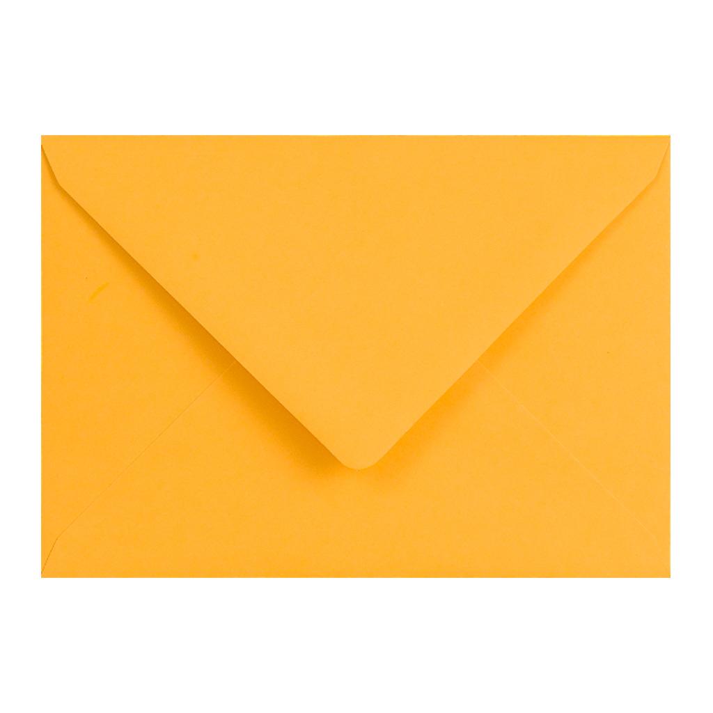 Obálky C6 obyčajné / 5 ks - zlatožltá