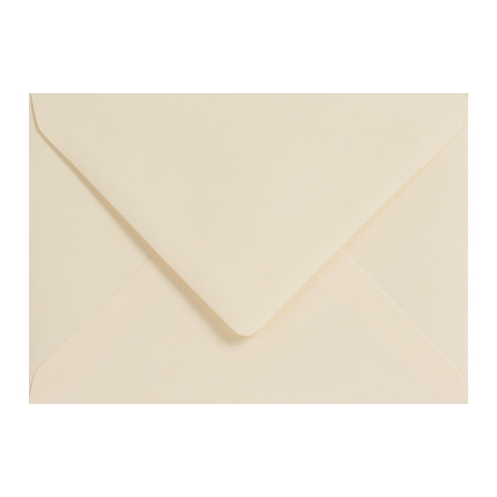 Obálky C6 obyčajné / 5 ks - krémová